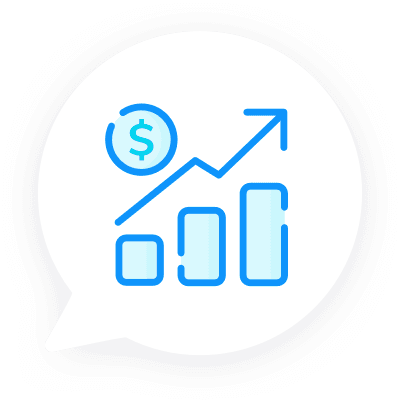 Increase revenue icon